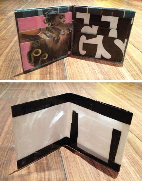 magazine plastic wallet